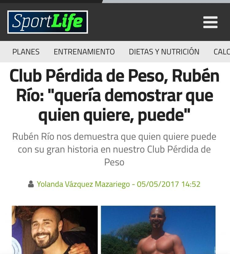 Colaboración con la prestigiosa revista SportLife RRSALUD