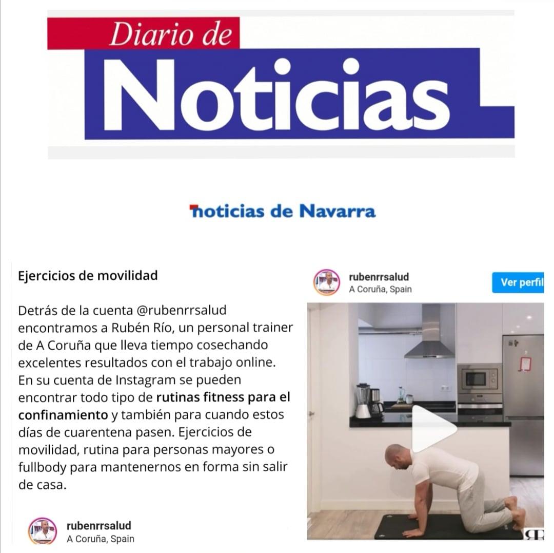 Diario de Navarra recorte RRsalud gimansio entrenamiento personal coruña
